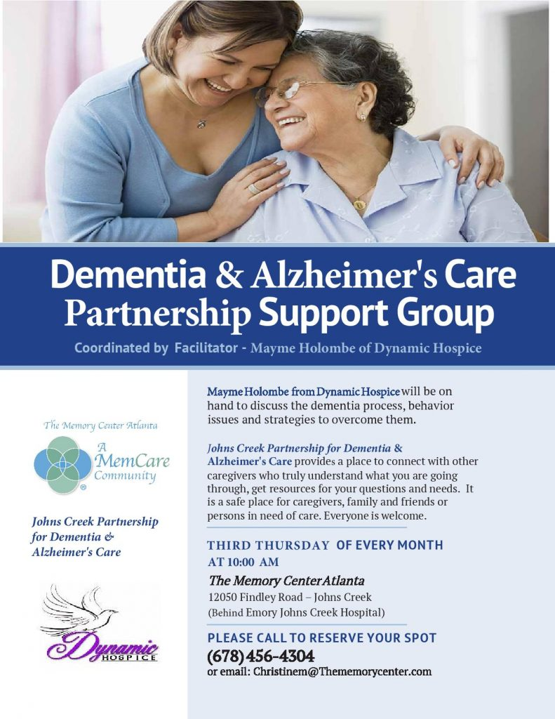dementia alzheimer's support group atlanta