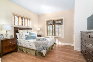 Resident bedroom at The Memory Center Johns Creek