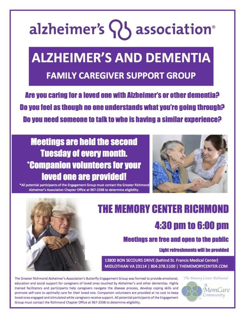 alzheimer's support group midlothian va