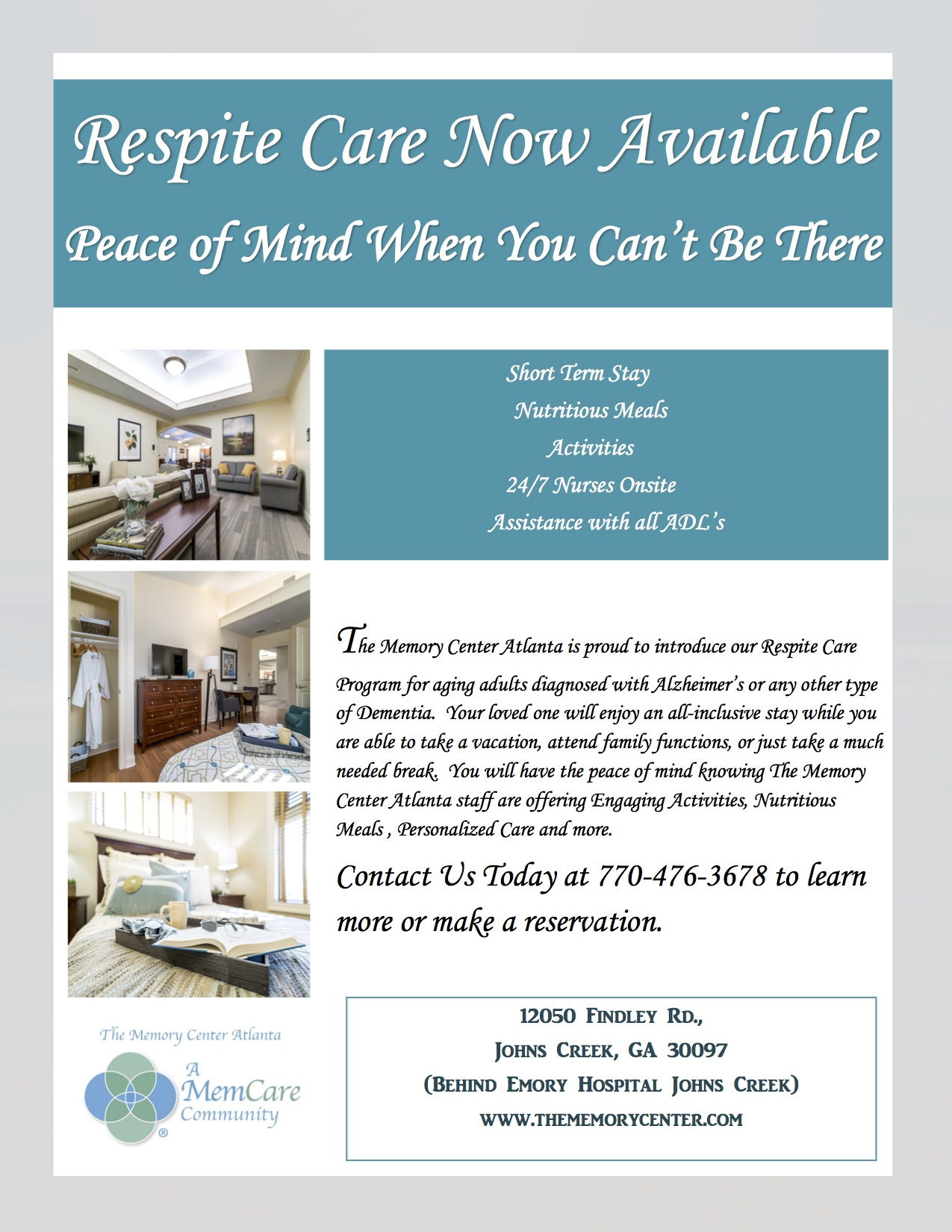 respite care for alzheimers atlanta