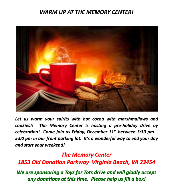 flyer for the memory center event